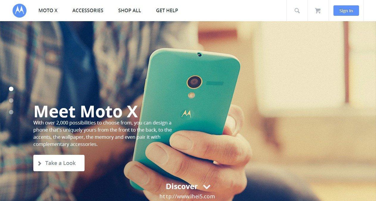 摩托罗拉美国官方网站UI彻底更新,全局扁平化Google风