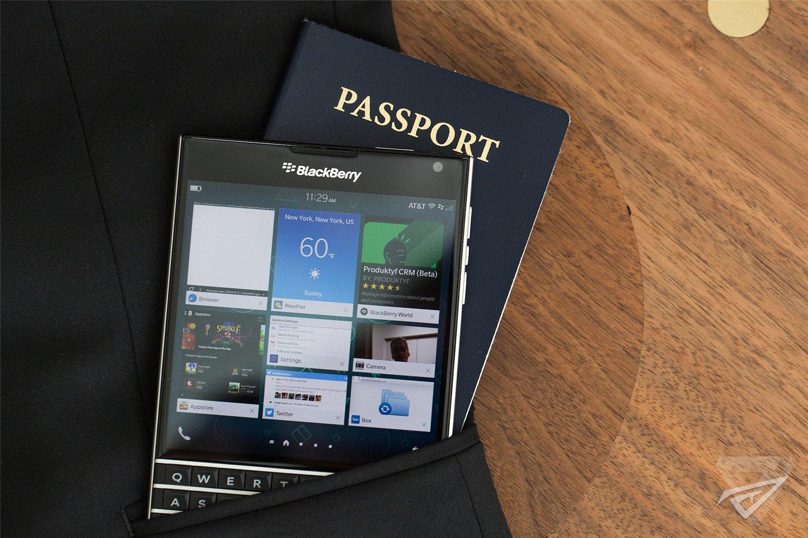 黑莓Passport(护照)图来自the verge
