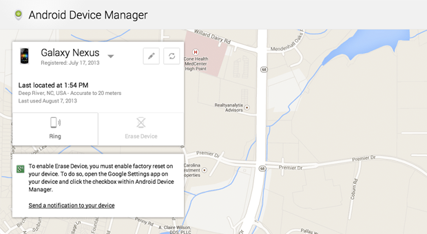 Google 已经开始推送 Android Device Manager