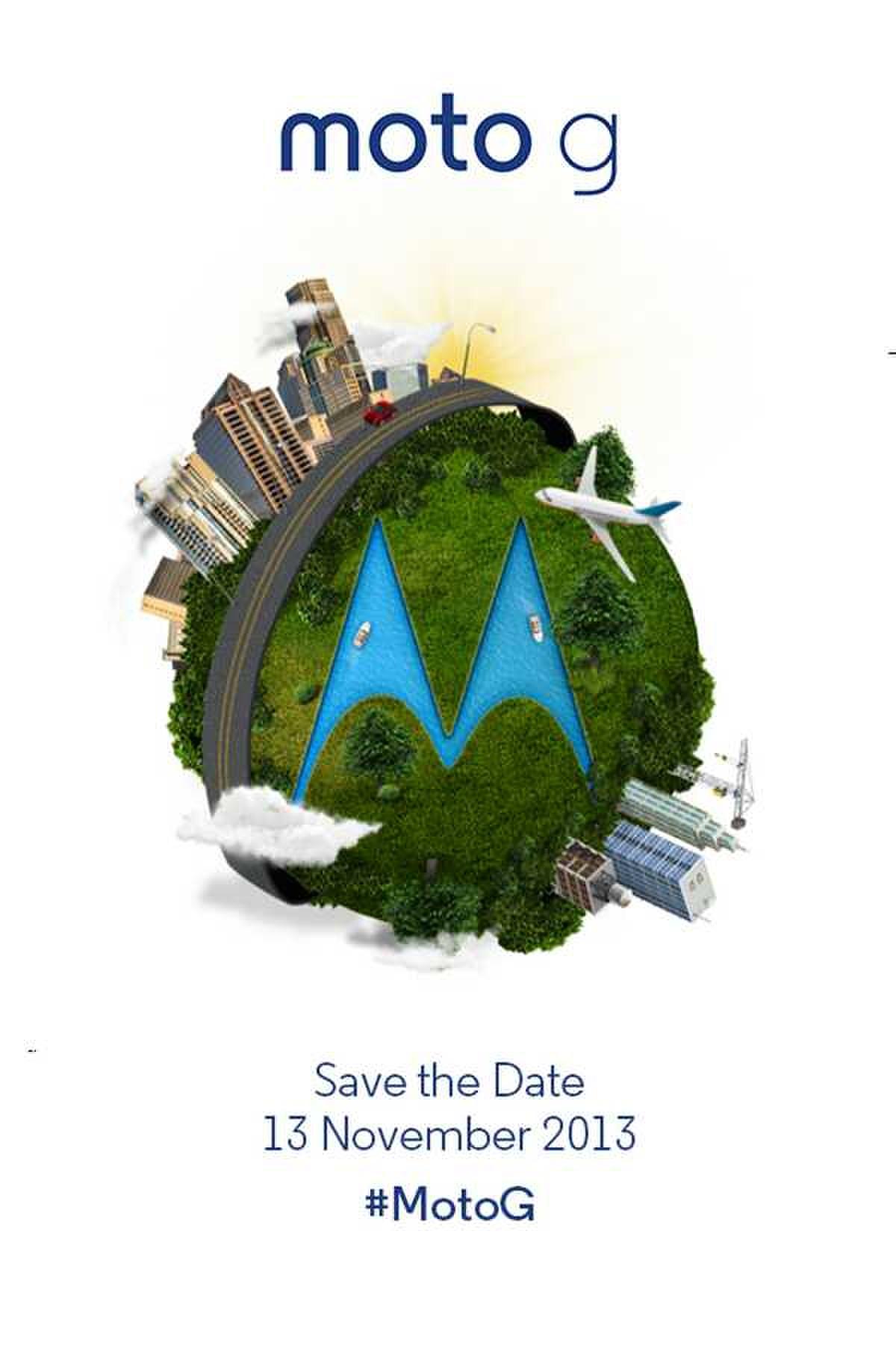 摩托罗拉将在2013年11月13日发布MOTO G