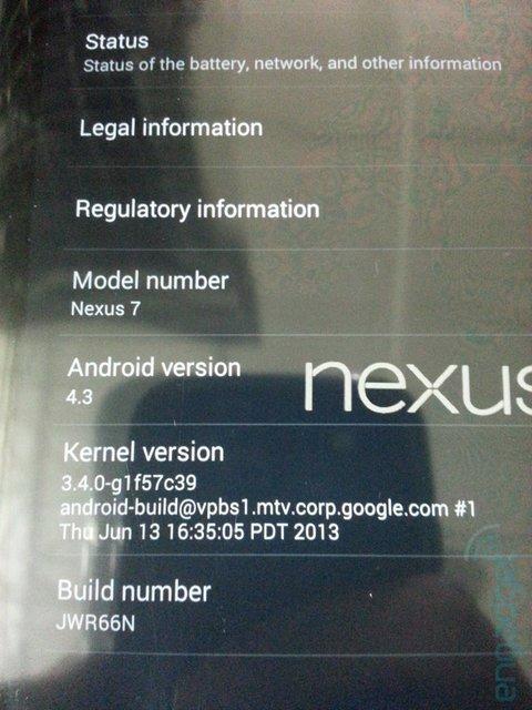 搭载Android 4.3的新Nexus7真机及包装亮相