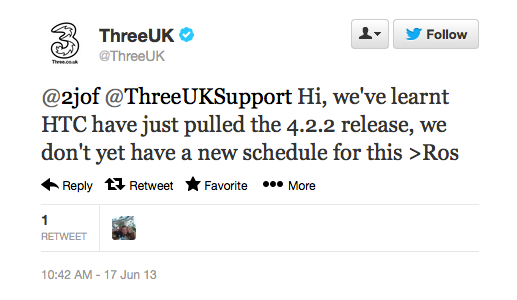 HTC 澄清不升级传闻,确认 HTC One 将迎来 Android 4.2 更新