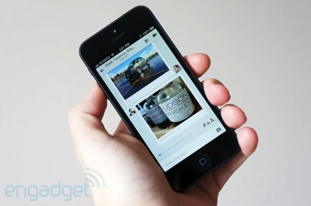 iOS版 hangouts 更新,可点击信息中的网址链接,以及信息通知