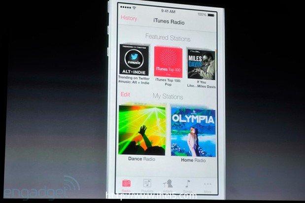 9月18日iTune Radio将会和iOS 7一起推出