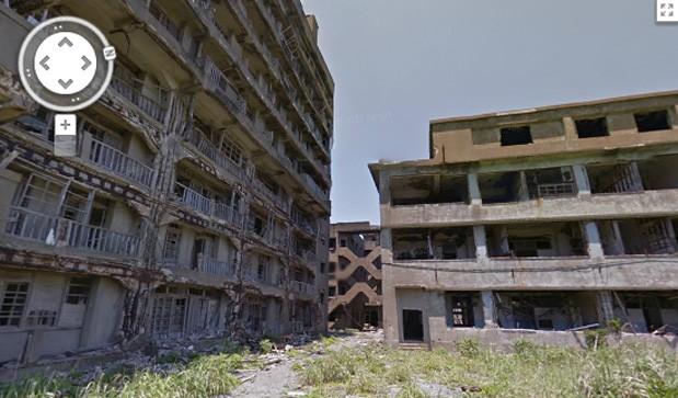 Google 街景带你看日本 Skyfall 中无人军舰岛